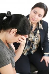 Mental Health: vulnerable sad woman