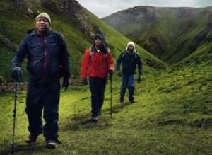 Black Men Walking in Hills